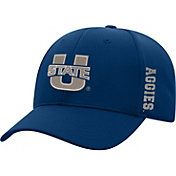 Top of the World Men's Utah State Aggies Blue Booster Plus 1Fit Flex Hat