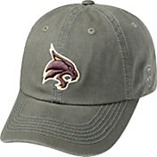 Top of the World Men's Texas State Bobcats Grey Crew Washed Cotton Adjustable Hat
