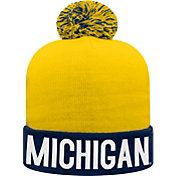 Top of the World Youth Michigan Wolverines Blue/Maize Void Pom Knit Beanie