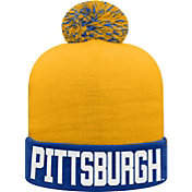 Top of the World Youth Pitt Panthers Blue/Gold Void Pom Knit Beanie