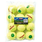 Tourna Pressurized Green Dot Tennis Balls 12-Pack