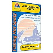 Fishing Hot Spots Champlain-South Lake Fishing Map (Cedar Beach to Whitehall)