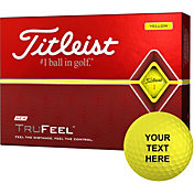 Titleist 2019 TruFeel Yellow Same Number Personalized Golf Balls