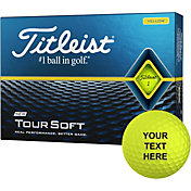 Titleist 2020 Tour Soft Yellow Personalized Golf Balls