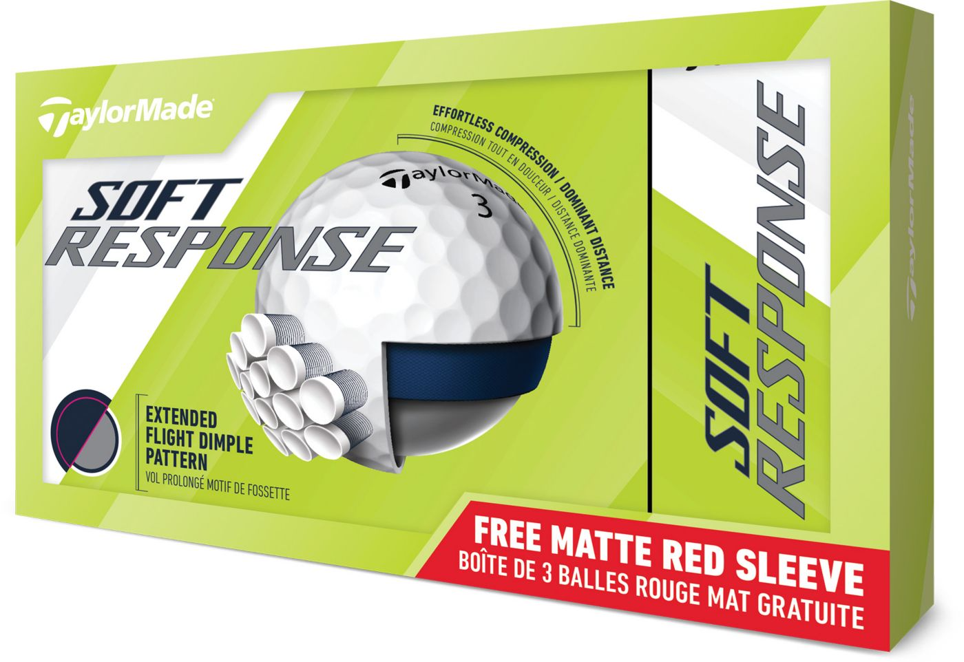 TaylorMade Soft Response Golf Balls – 15 Pack