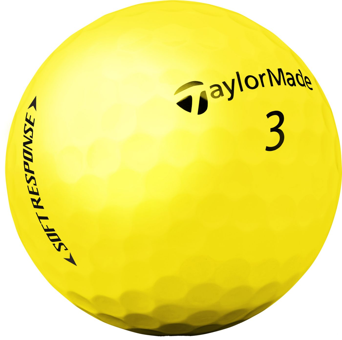 TaylorMade Soft Response Matte Yellow Golf Balls