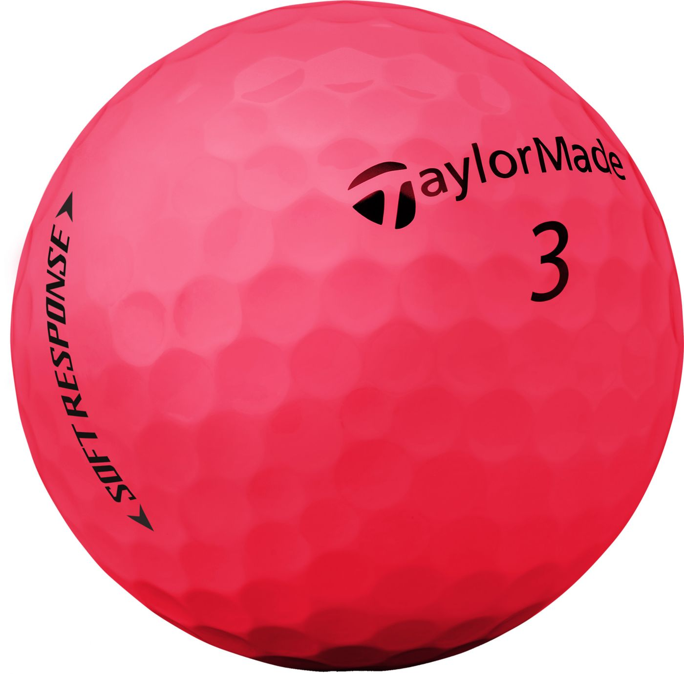TaylorMade Soft Response Matte Red Golf Balls