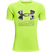 Under Armour Boys' Tech Hybrid Print Fill T-Shirt