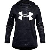 Under Armour Girls' Armour Fleece Logo Textured Hoodie