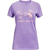 Under Armour Girls' Graphic Twist Big Logo T-Shirt