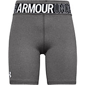Under Armour Girls' HeatGear Armour Heather Bike Shorts