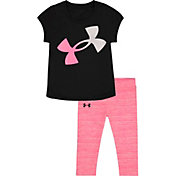 Under Armour Girls' Logo T-Shirt and Leggings Set