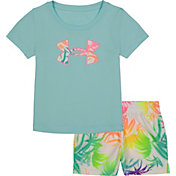Under Armour Little Girls' Palm T-Shirt and Shorts Set