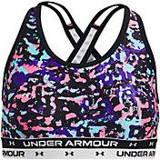 Under Armour Girls' Crossback Printed Sports Bra