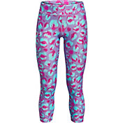 Under Armour Girls' HeatGear Printed Ankle Crop Leggings