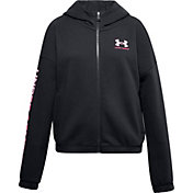Under Armour Girls' Rival Fleece Full Zip Hoodie