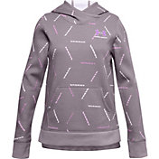 Under Armour Girls' Rival Fleece Printed Hoodie