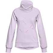 Under Armour Girls' Rival Fleece Wrap Neck Sweatshirt