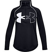 Under Armour Girls' Tech Graphic Logo ½-Zip Pullover