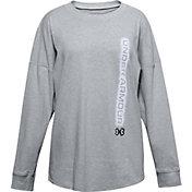 Under Armour Girls' Wordmark Branded Long Sleeve Shirt