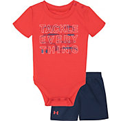 Under Armour Infant Boys' Tackle Everything Onesie and Shorts 2-Piece Set