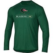 Under Armour Men's UAB Blazers Green Long Sleeve Tech Performance T-Shirt