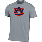 Under Armour Men's Auburn Tigers Grey Performance Cotton T-Shirt
