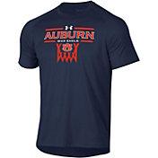 Under Armour Men's Auburn Tigers Blue Tech Performance Basketball T-Shirt