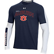 Under Armour Men's Auburn Tigers Blue Bench Long Sleeve T-Shirt