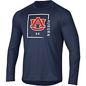 Under Armour Men's Auburn Tigers Blue Performance Cotton Long Sleeve T-Shirt