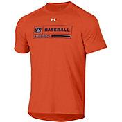 Under Armour Men's Auburn Tigers Orange Tech Performance Baseball T-Shirt