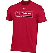Under Armour Men's Cincinnati Bearcats Red Performance Cotton Football T-Shirt