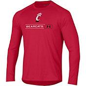 Under Armour Men's Cincinnati Bearcats Red Long Sleeve Tech Performance T-Shirt