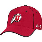 Under Armour Men's Utah Utes Crimson Isochill Adjustable Hat