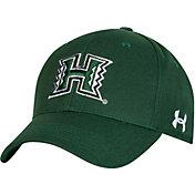 Under Armour Men's Hawai'i Warriors Green Adjustable Hat