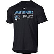 Under Armour Men's Johns Hopkins Blue Jays Tech Performance T-Black Shirt