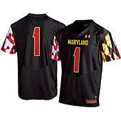 Under Armour Men's Maryland Terrapins #1 Replica Football Black Jersey