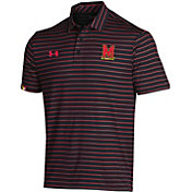 Under Armour Men's Maryland Terrapins Easy Money Sideline Performance Black Polo