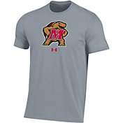 Under Armour Men's Maryland Terrapins Grey Performance Cotton T-Shirt