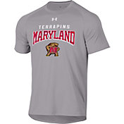 Under Armour Men's Maryland Terrapins Grey Tech Performance T-Shirt