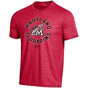 Under Armour Men's Maryland Terrapins Red Bi-Blend Performance T-Shirt