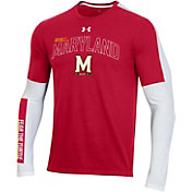 Under Armour Men's Maryland Terrapins Red Bench Long Sleeve T-Shirt