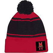Under Armour Men's Maryland Terrapins Red Pom Knit Beanie