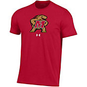 Under Armour Men's Maryland Terrapins Red Performance Cotton T-Shirt