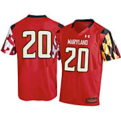 Under Armour Men's Maryland Terrapins #20 Red Replica Football Jersey