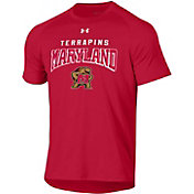 Under Armour Men's Maryland Terrapins Red Tech Performance T-Shirt