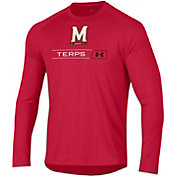 Under Armour Men's Maryland Terrapins Red Long Sleeve Tech Performance T-Shirt