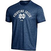Under Armour Men's Notre Dame Fighting Irish Navy Bi-Blend Performance T-Shirt