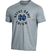 Under Armour Men's Notre Dame Fighting Irish Grey Bi-Blend Performance T-Shirt