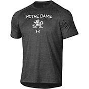 Under Armour Men's Notre Dame Fighting Irish Grey Tech Performance T-Shirt
